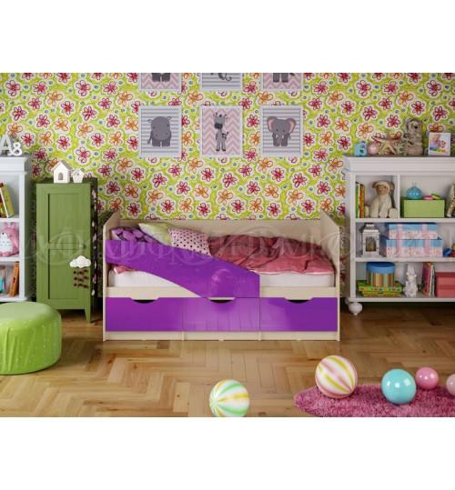 Детская кровать Бабочка 1,6м с матрасом
