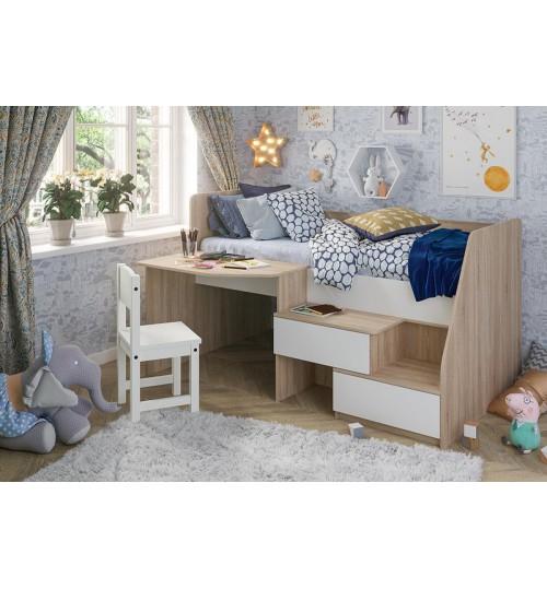 Кровать детская со столом Алиса