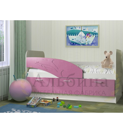 Детская кровать Дельфин 1,8 с матрасом