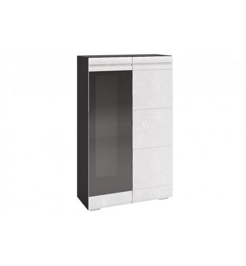 Шкаф 2х ств. навесной со стеклом Бруклин (ШКМ02)