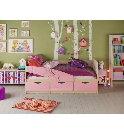 Детская кровать Дельфин 1,8м  с матрасом