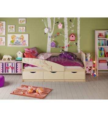 Детская кровать Дельфин 1,6м с матрасом