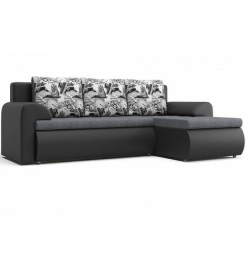 Угловой диван Рим серый (на фото правое исполнение)